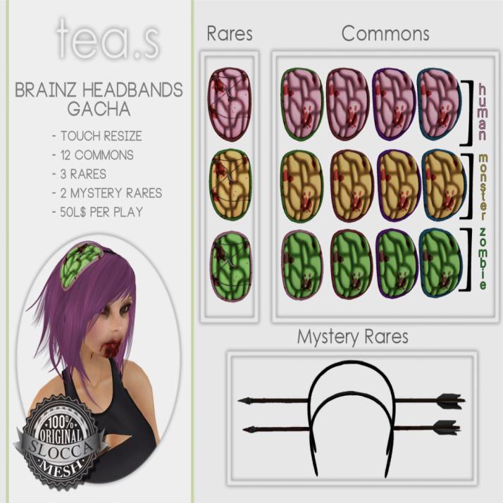 [tea.s] Brainz Headband Gacha AD