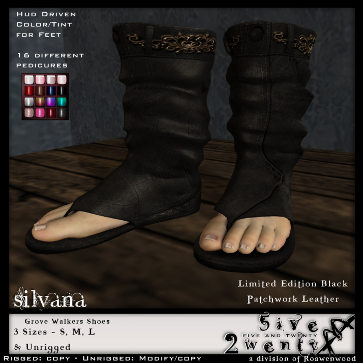 {RW} LE Silvana Grove Walker Shoes - Black Patchwork Leather