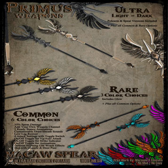 Primus Macaw Spear
