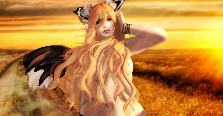Spice and Wolf sunset