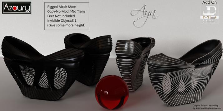 AZOURY - AYA Shoe - Dark - with white and Dark strips