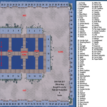 Skin Fair 2017 Sim Map with Key Sim 1